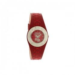 Montre LTC ref TC75, cad rouge, brac cuir rouge