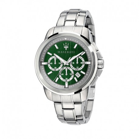 SUCCESSO 44MM CHR GREEN DIAL BR SS