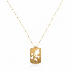 NECKLACE WORLD CUT-OUT - GOLD
