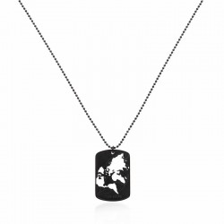NECKLACE WORLD CUT-OUT - BLACK