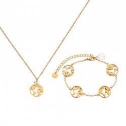 BR.GLOBE PETITE BRACELET - GOLD