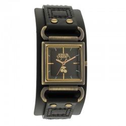 Montre LTC ref TC95, cad noir, brac cuir noir